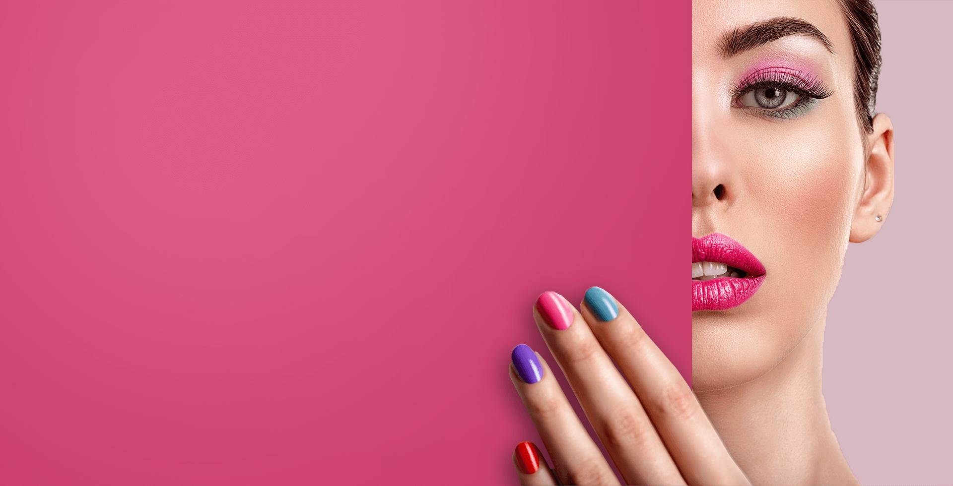 Разноцветное покрытие ногтей